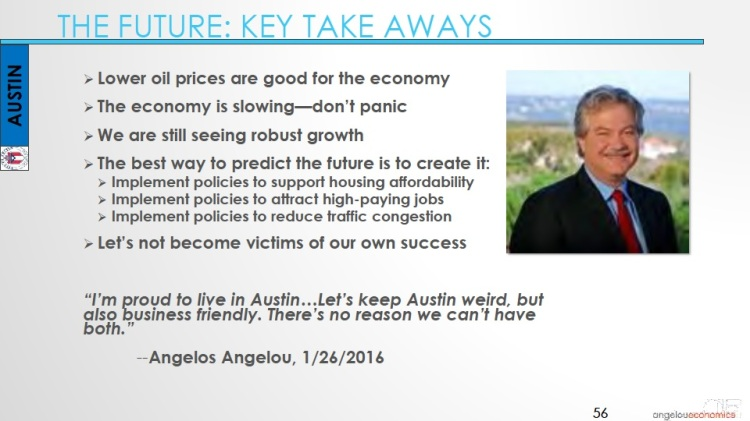 Long-Center-Economic-Forecast-Presentation 2015 Key Take Aways
