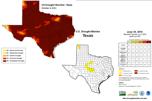 Drought Graphics 2011 and 2015